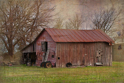 Tractor Barn Art Print by Lisa Moore