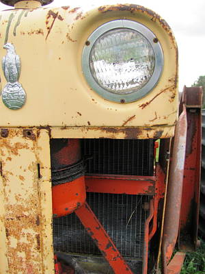 Photograph - Tractor Close Up 1 by Anita Burgermeister