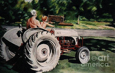 Painting - Tractor Ride by LJ Newlin