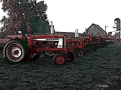 Photograph - Tractor Row by George Pedro
