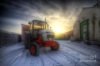 Photograph - Tractor Sunrise by Yhun Suarez