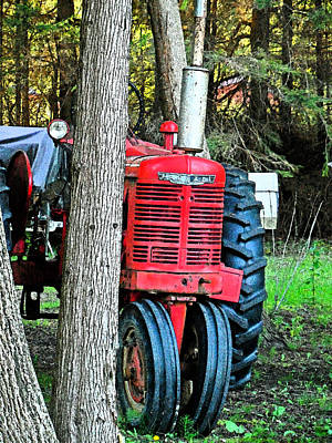 Photograph - Tractor Tracking - Hope Bay Campground by Cyryn Fyrcyd