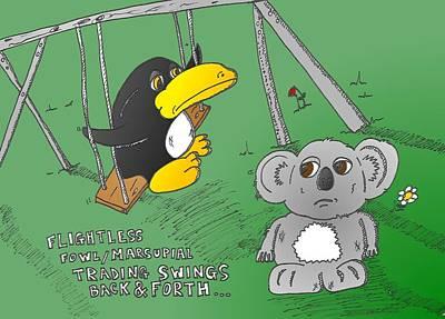 Koala Mixed Media - Trading Binary Options Animals by OptionsClick BlogArt