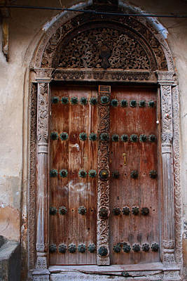 Traditional Carved Door Art Print by Aidan Moran