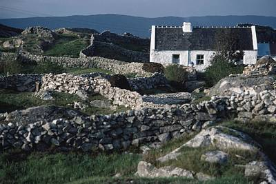 The Economy Photograph - Traditional Cottage, Co Galway, Ireland by The Irish Image Collection