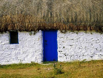 Traditional Cottages, Co Galway, Ireland Art Print by The Irish Image Collection