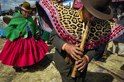 Traditional Dance Of The Bolivian Highlands. Art Print by Eric Bauer