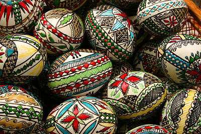 Photograph - Traditional Easter Eggs by Emanuel Tanjala