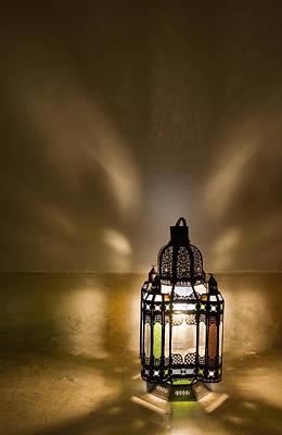 Moroccan Photograph - Traditional Lantern At Riad Dar Hanane by Axiom Photographic
