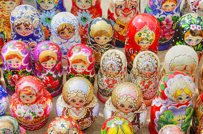 Traditional Russian Nested Dolls For Sale Art Print by Travelif