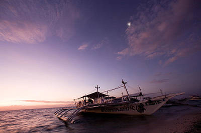 Malapascua Island Photograph - Traditional Style Philippine Outrigger by Tim Laman