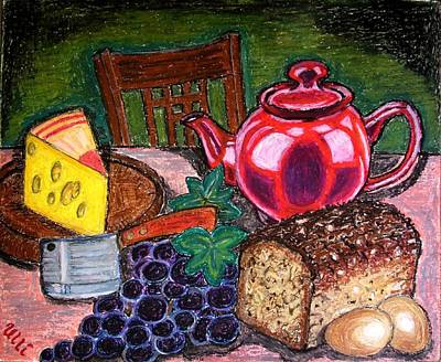 Teapot Painting - Traditional Supper by Ulrike Proctor