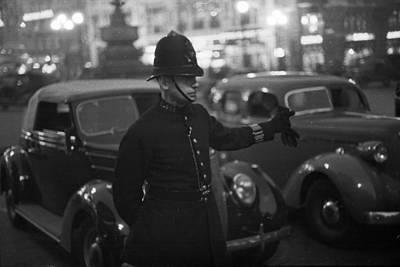 Traffic Cop Print by Kurt Hutton