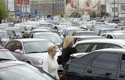 Traffic Jam, Moscow Print by Ria Novosti