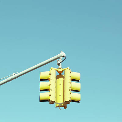 Yellow Images Photograph - Traffic Light by Justinwaldingerphotography
