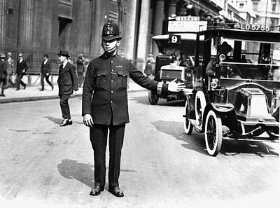 Traffic Police Art Print by Hulton Collection
