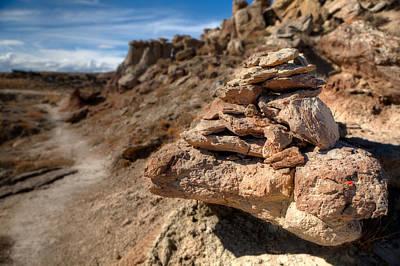 Trail Cairn At Gooseberry Badlands Wyoming Original