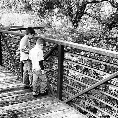 Trail Wall Art - Photograph - #trail #park #brothers #bridge #inkwell by Bryan P