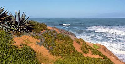 Coast Digital Art - Trails End La Jolla by Russ Harris