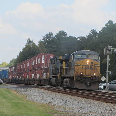 Railroad Photograph - Train At Folkston by Cathy Lindsey