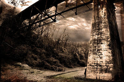 Photograph - Train Crossing by Gray  Artus