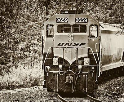 Photograph - Train In Sepia by Tony Grider