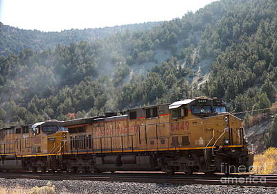 Photograph - Train In Spanish Fork Canyon by Pamela Walrath