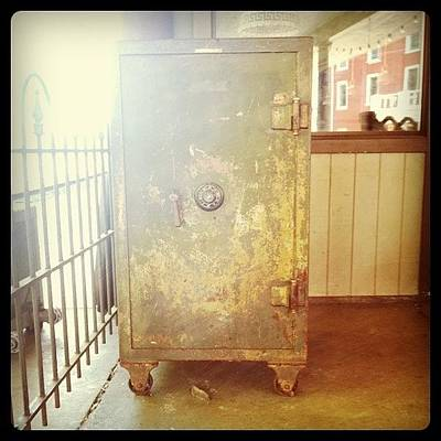 Rust Wall Art - Photograph - Train Locker by Michelle White