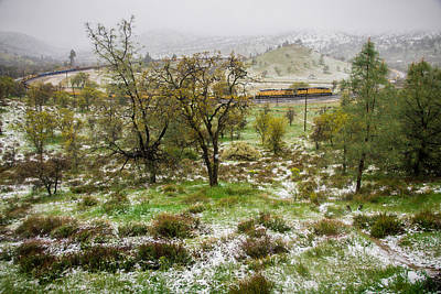 Photograph - Train Loop Snow  by Connie Cooper-Edwards
