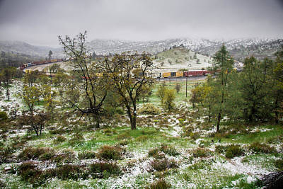 Photograph - Train Loop Spring Snow by Connie Cooper-Edwards