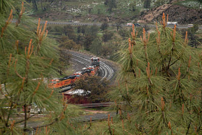 Photograph - Train On Curve by Connie Cooper-Edwards