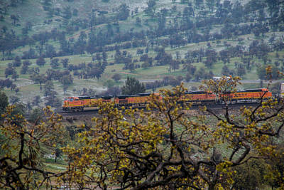 Photograph - Train On Hill by Connie Cooper-Edwards