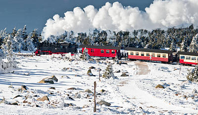 Train On The Brocken (harz) Art Print