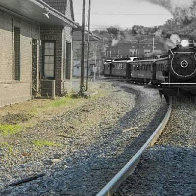 Steam Wall Art - Photograph - #train #photoshop #old #modern by Dusty Anderson