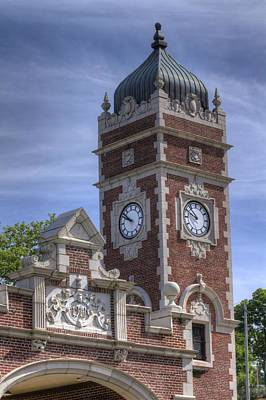 Photograph - Train Station Clock Tower by Coby Cooper