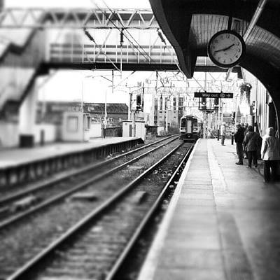 #train #trainstation #station Art Print