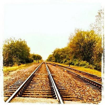 Track Wall Art - Photograph - #train #traintracks #tracks #sky by Bryan P