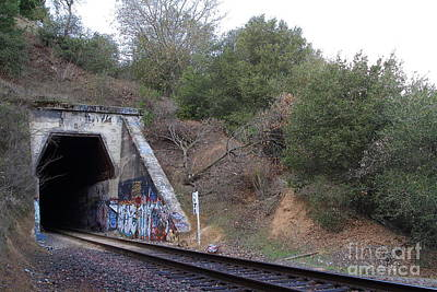 Train Tunnel At The Muir Trestle In Martinez California . 7d10229 Art Print by Wingsdomain Art and Photography