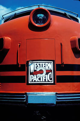 Train Western Pacific Art Print by Garry Gay
