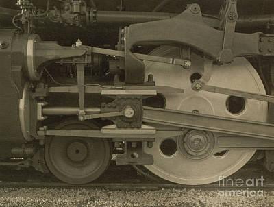 Albumen Photograph - Train Wheels by Photo Researchers