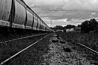 Art Print featuring the photograph Train Yard by Randall  Cogle