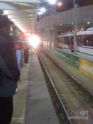 Photograph - Train's A Comin' by Barbara Plattenburg