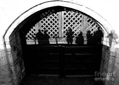 Traitors Gate And Ghostly Images  Art Print by David Pyatt
