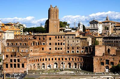 Dei Photograph - Trajan's Market  by Fabrizio Troiani