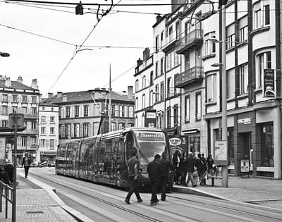 Photograph - Tram In Clermont Ferrand by Georgia Fowler