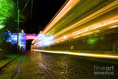 Photograph - Tram Light Trail 1.0 by Yhun Suarez
