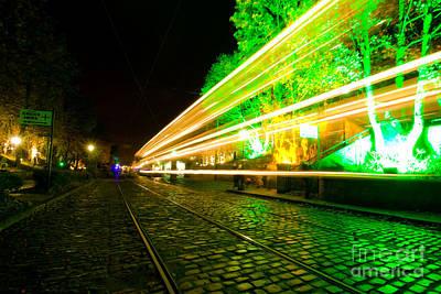Photograph - Tram Light Trail 3.0 by Yhun Suarez