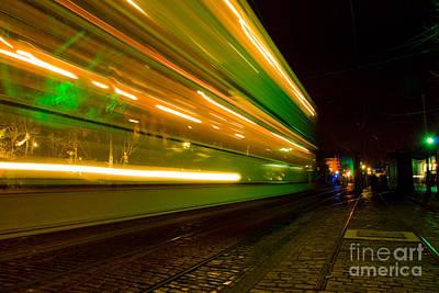 Photograph - Tram Light Trail 4.0 by Yhun Suarez