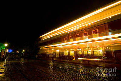 Photograph - Tram Light Trail 5.0 by Yhun Suarez