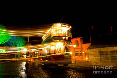 Photograph - Tram Light Trail 6.0 by Yhun Suarez